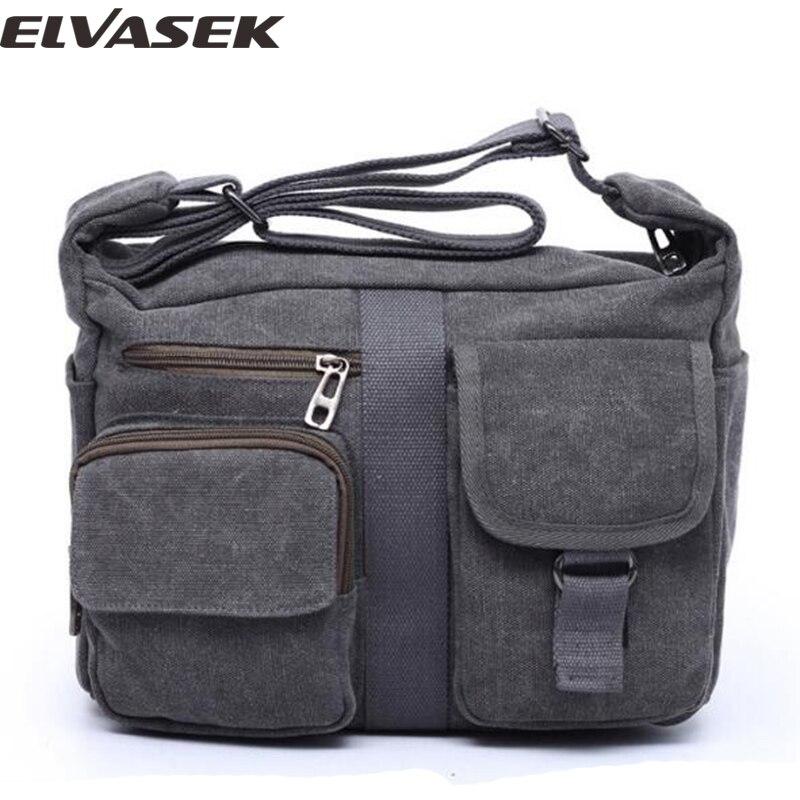 Elvasek fashion men s messenger bags canvas travel bag handbag for busness  man men single shoulder bags b51a580fb2d75