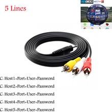 HD 3RCA AV Câble 5 Clines ligne pour Satellite Récepteur Soutenu Cccam DVB-S2 via USB WIFI