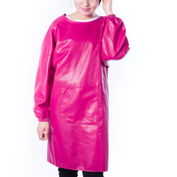 Long Sleeve PU Leather Apron Kitchen Chef Overalls Thickening Waterproof Oil Acid Resistant Gowns Car Wash Wear Workshop Attire