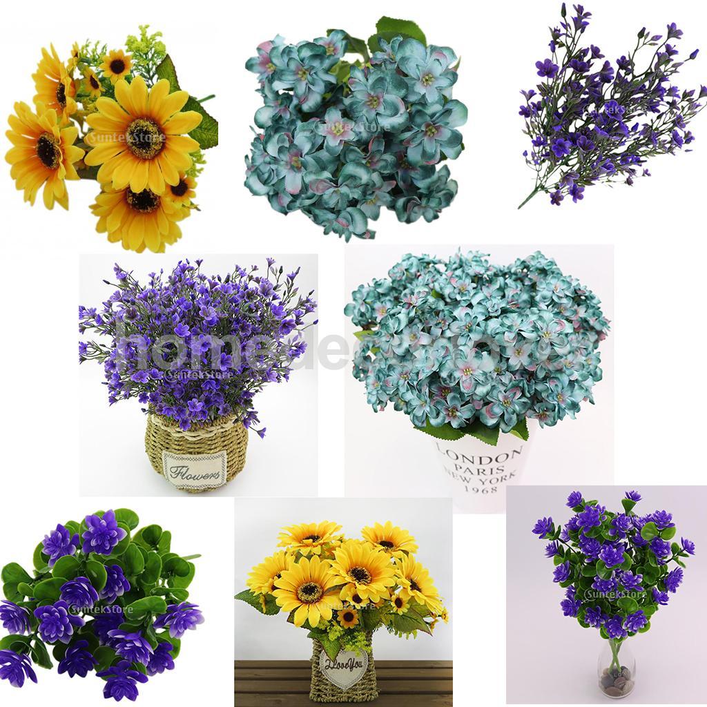 Artificial Flower Sunflower/Wishbone Flower/Lavender/Camellia for ...