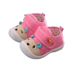 2018 детская парусиновая обувь для новорожденных мальчиков и девочек, нескользящая обувь с рисунками из мультфильмов, мягкая подошва