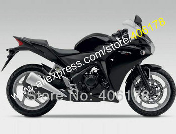For 2011 2012 2013 2014 All Black CBR250R 11 12 13 14 CBR 250R CBR250 Sports Fairing Set (Injection molding)