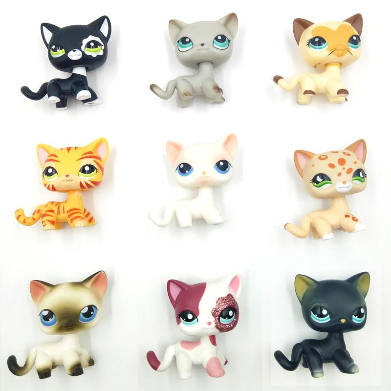 rare font b pet b font shop lps toys standing littlest short hair cat grey white