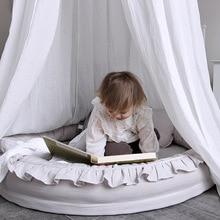 Круглая детская кровать-гнездо, переносная съемная и моющаяся кроватка, дорожная кровать для детей, детская хлопковая Колыбель