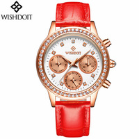 Rhinestone Watches Women Famous Brand Fashion Luxury Watch Leather High Quality Diamond Ladies Quartz Watch Relogio