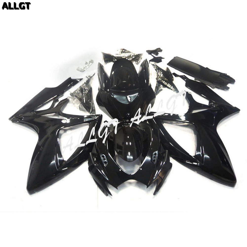 Gloss Black <font><b>Fairing</b></font> kit Bodywork for SUZUKI <font><b>GSXR</b></font> <font><b>600</b></font> / 750 2006 <font><b>2007</b></font> Pre-drilled image