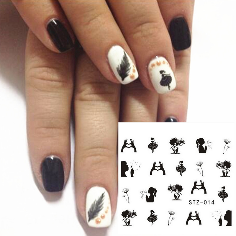 Nail Art Games For Girls On The App Store: 1 Pc New Designs Nail Sticker Decals NEW Black Colors