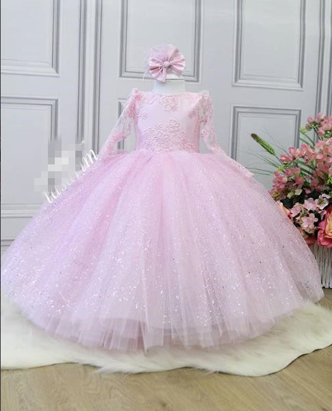 Flower Girl Dresses For Wedding First Communion Dresses Toddler Baby Little Girl Tutu Party Dress Kids Clothes Children Clothing