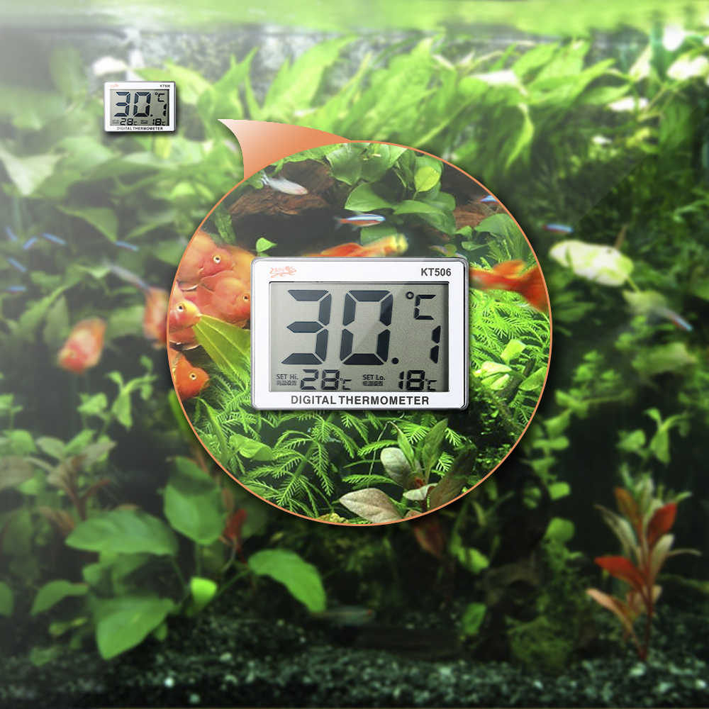 Mini LCD Digital Fish Tank Aquarium Thermometer Water Temperature Meter 0C~37C  Fish Tank Aquarium