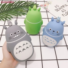 OUSSIRRO Fashion Creative Double Heat-resisting Lovely Totoro High quality Glass Drinking Cartoon style glass Water Bottles