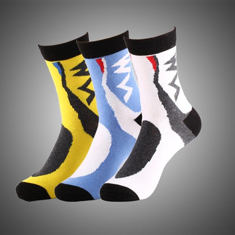 2017 New cotton mountain bike socks cycling sport racing bike socks outdoor sox sports brand white blue quick dry crew