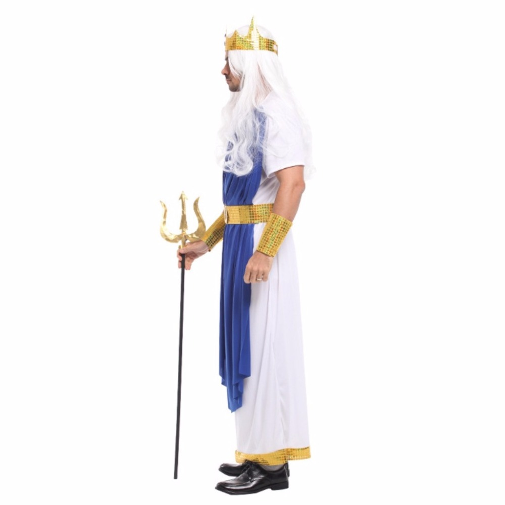 shanghai story mens halloween cosplay costume ancient greek mythology poseidon neptune cosplay party costumes on aliexpresscom alibaba group - Poseidon Halloween Costume