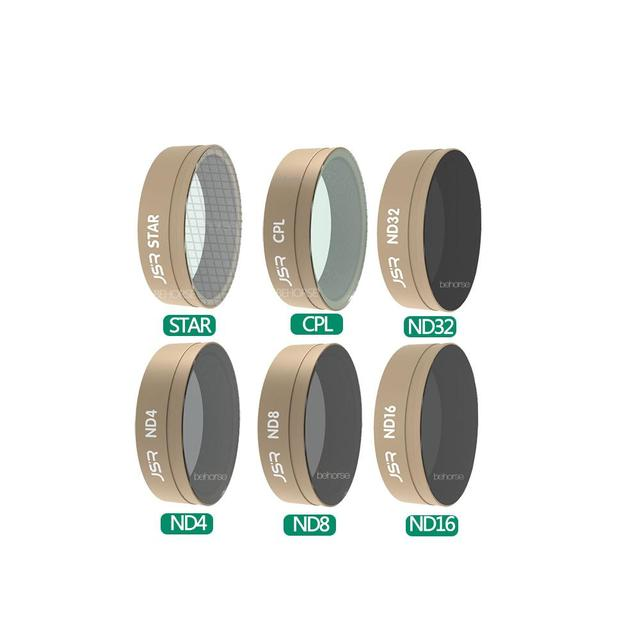 Metermall for DJI OSMO Action Camera Lens Filter Sets CPL UV Star ND4//8//16//32 ND8//16//32//64-PL Camera Filter for DJI Action Camera Accessories 6-in-1 Filter Set