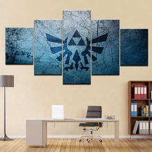 5 Piece Canvas HD Painting Cartoon Legend Zelda Game logo Picture painting home decor print poster & Buy zelda wall art and get free shipping on AliExpress.com