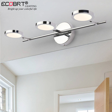 ECOBRT Modern LED Bathroom Mirror Front Lights Stainless Steel Chrome Wall Sconce Lamp 10/15/20W