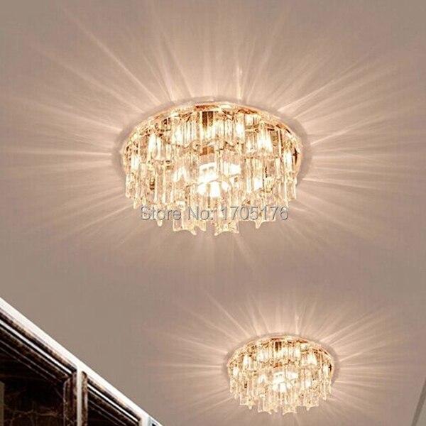 tienda online hot nuevo crystal led luces de techo para pasillo corredor de entrada lmparas luminosa decoracin del hogar iluminacin moderna lmpara with