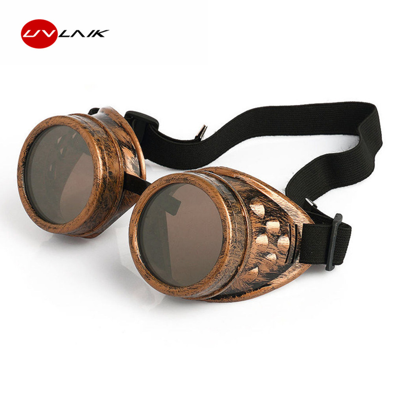 27838823c4 UVLAIK Welding Punk Vintage Sunglasses Retro Gothic Steampunk Goggles  Glasses Men Sun Glasses Cosplay Eyewear