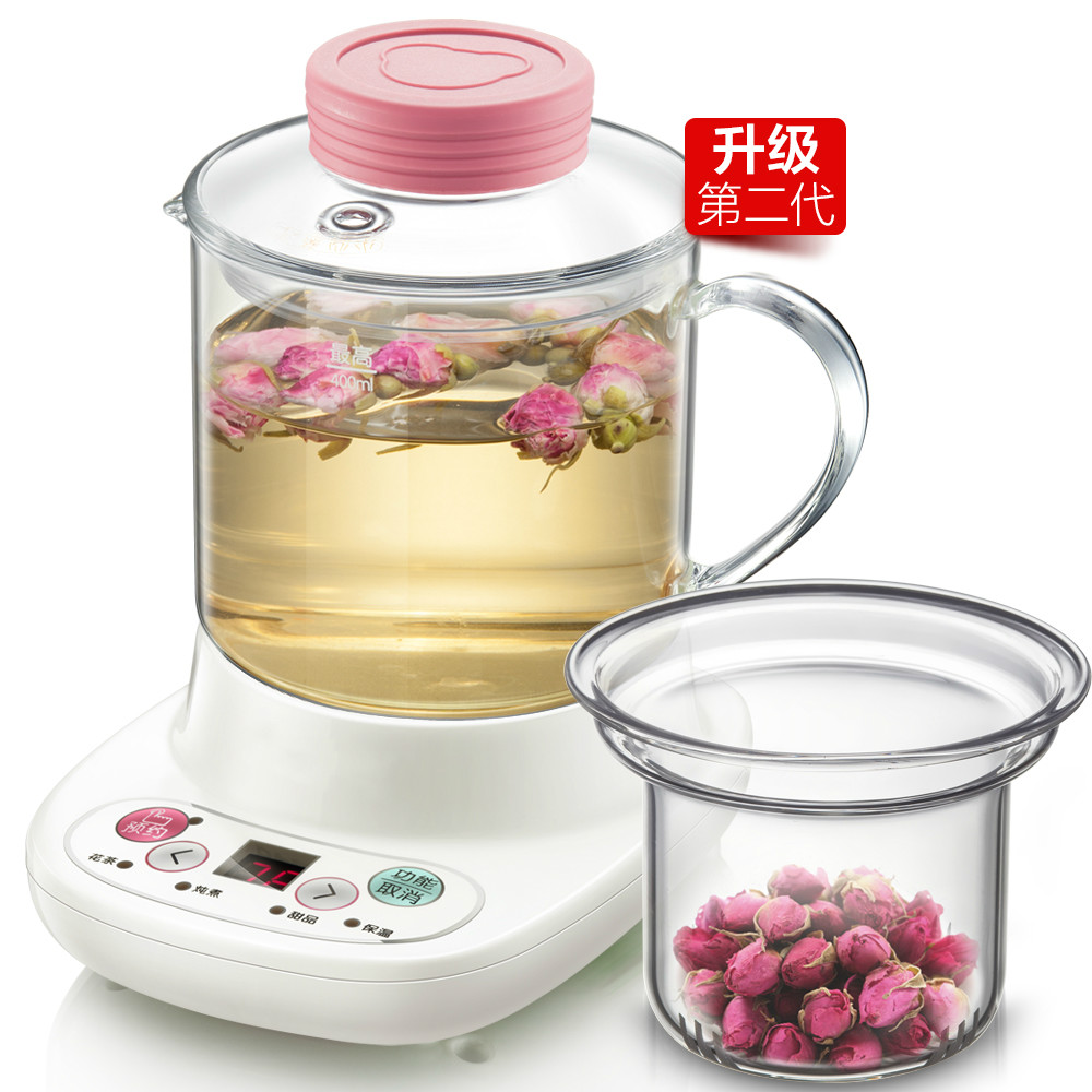 NEW Health pot automatically thickened glass multi-functional mini electric cup flower office kettleNEW Health pot automatically thickened glass multi-functional mini electric cup flower office kettle