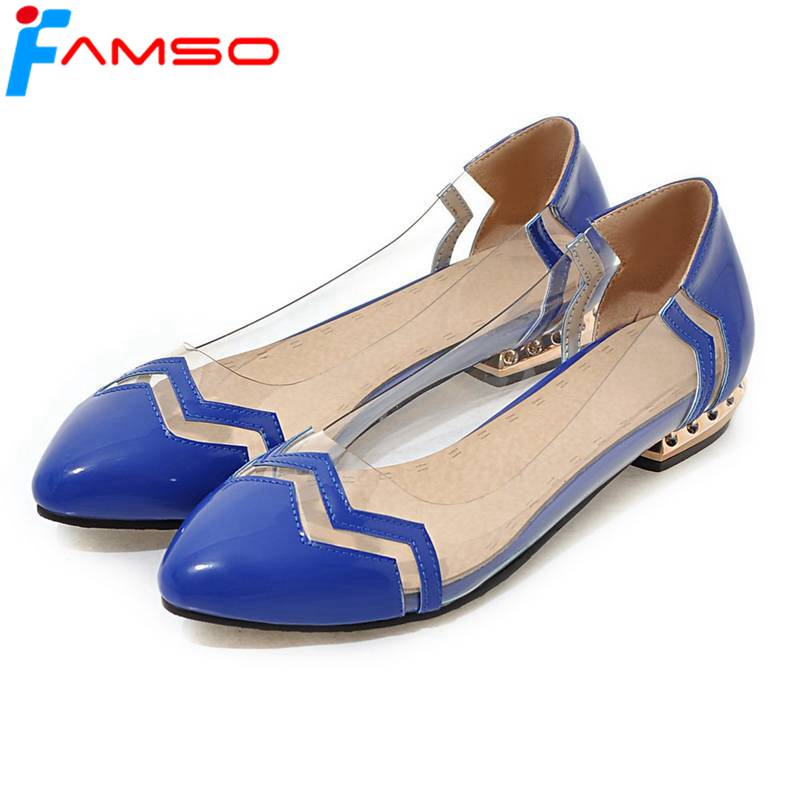 FAMSO 2018 New Fashion Women Flats Shoes Pointed toe gold Rhinestone Heels Patchwork Casual Ladies Office Sandals Shoes new 2017 spring summer women shoes pointed toe high quality brand fashion womens flats ladies plus size 41 sweet flock t179
