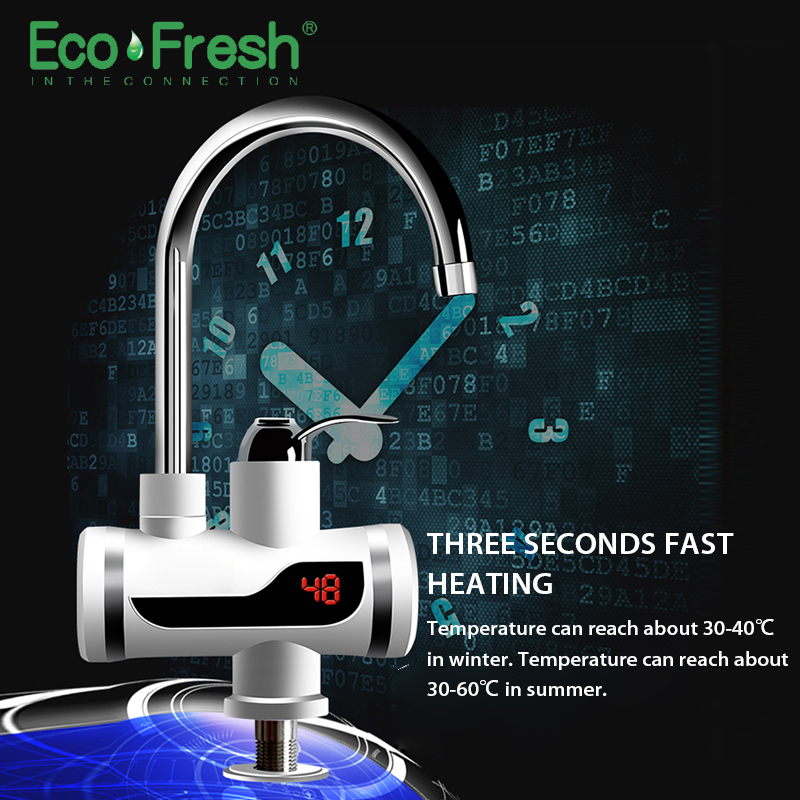Ecofresh Electric Faucet Instant Water Heater Tap Faucet Heater Cold Heating Faucet Tankless Instantaneous Water Heater 2