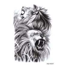 Large Arm Sleeves Temporary Tattoo Sticker Cool Power Lions Arm Art Tattoo Male Half Indian Totem Fake Tatoo For Men BH-047