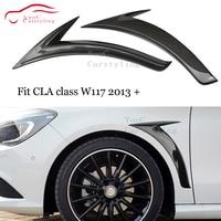 W117 Carbon Fiber Car styling Bumper Splitter for Mercedes CLA C117 2014 2019 CLA180 CLA200 CLA250 CLA45 AMG Side Fender Trim