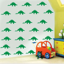 Removable Little Dinosaur Pattern 40 PCS pack Kids Room Self Adhesive Wall Sticker Nuesery Bedroom Art Decoration adesivo NY-115