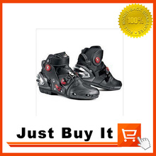 Great Quality Special offer PRO Motorcycle shoes waterproof Racing boots Wear Motorcycle boots Knight boots Skid Black