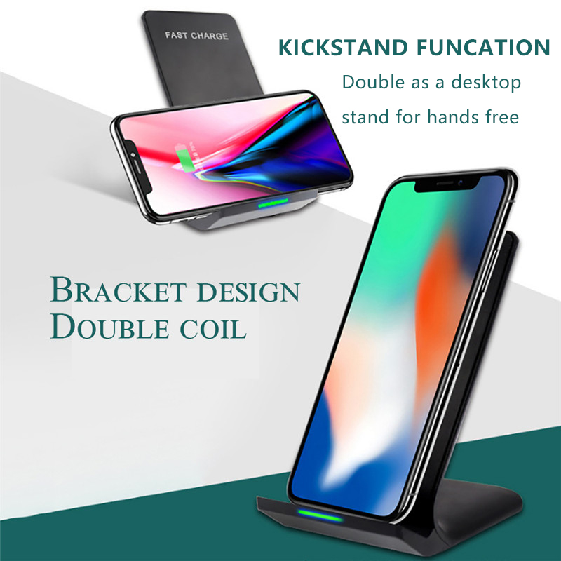 10W Qi Wireless Charger Fast Charger For iPhone X 8 8 Plus Fast Charging Holder For Samsung S8 S7 S6 Portable Charger Smartphone