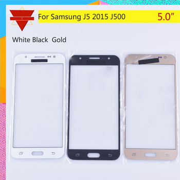 50Pcs/lot For Samsung Galaxy J5 2015 J500 J500H J500FN J500F SM-J500F Touch Screen Front Glass Panel TouchScreen LCD Outer Lens