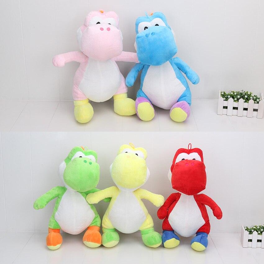 40 센치메터 슈퍼 마리오 브라더스 녹색 요시 봉제 인형 장난감 인형 마리오 봉제 장난감 레드 블루 요시 인형 선물
