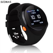 SCOMAS Youngsters Good Watch GPS Location Youngsters Secure Exercise Tracker Wristband SOS Name GSM SIM card for Android iOS Smartphone