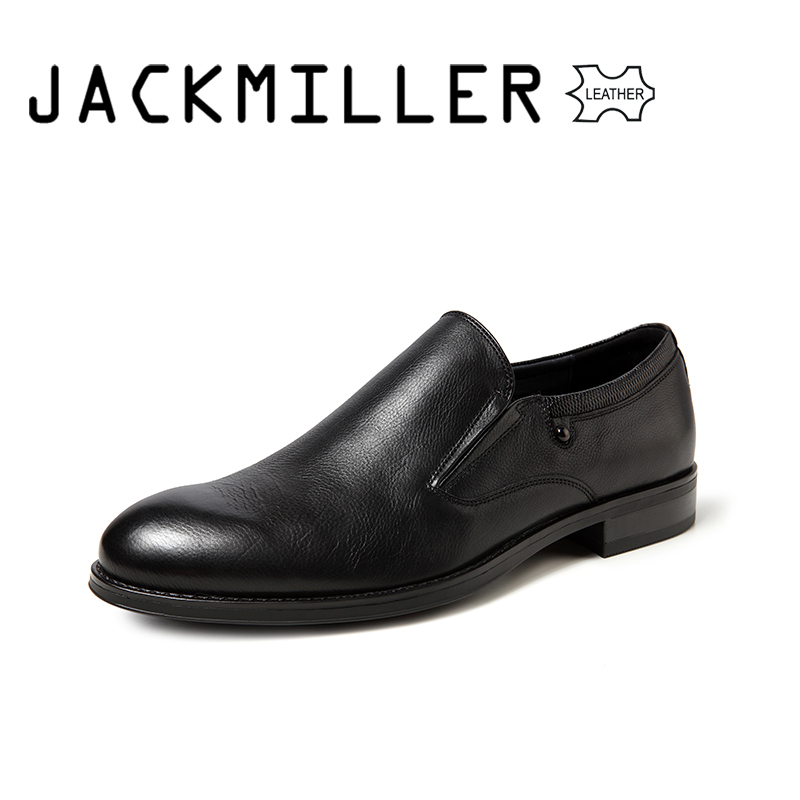 Jackmiller Top Brand Men's Dress Shoes Genuine Leather Office High Quality Men's Formal Fashion Business Wedding Shoes for men-in Formal Shoes from Shoes    1