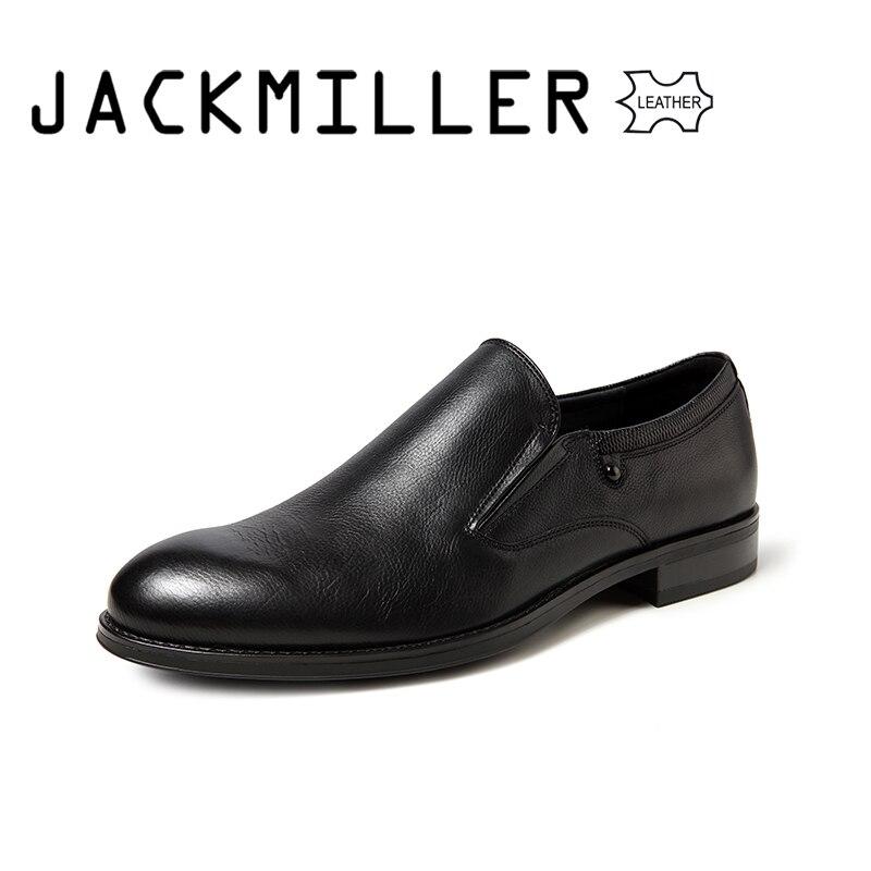 Jackmiller أعلى العلامة التجارية الرجال اللباس أحذية جلد طبيعي مكتب عالية الجودة الرجال الرسمي الأزياء الأعمال أحذية الزفاف ل الرجال-في أحذية رسمية من أحذية على  مجموعة 1