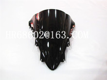 HotSale Для Yamaha YZF 1000 R1 2007 2008 черный Лобового Стекла Ветрового Double Bubble yzf r1 07 08 КУБ. СМ