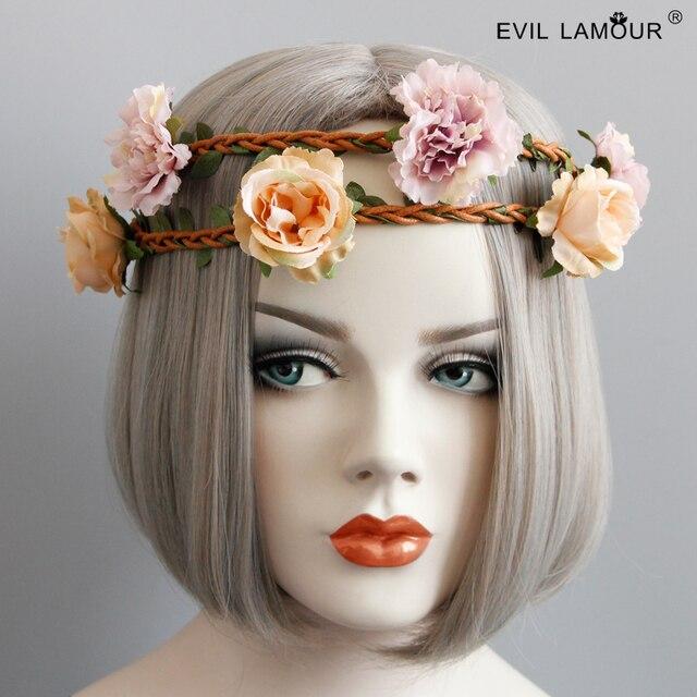 Spring Summer Hawaii Beach Hairband Girl Flower Rattan Headband