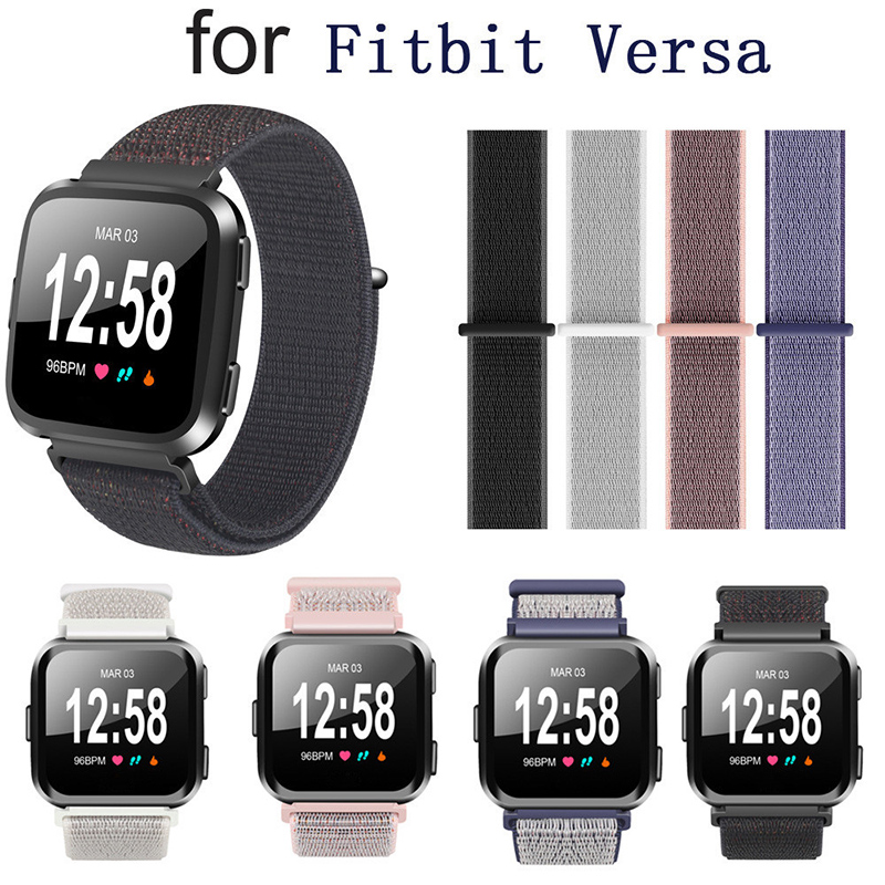Replacement Woven Nylon Loop Bracelet Sport Watch Band Strap For Fitbit Versa SmartWatch Watachband Sporting Good Accessories fitbit watch