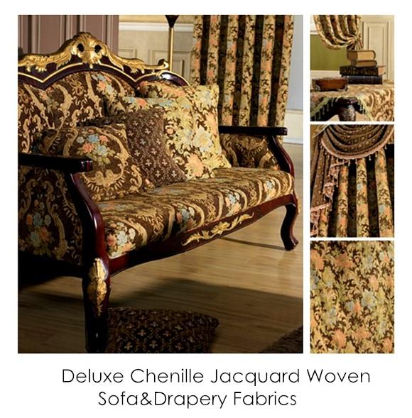 Vintage Brown Flower Thick Polyester Viscose Soft Chenille Sofa - Արվեստ, արհեստ և կարի - Լուսանկար 6