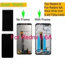 Original 5.45 For Xiaomi REDMI 6 6A LCD Display Touch Screen Digitizer Sensor Pantalla monitor Redmi 6A LCD Assembly With Frame