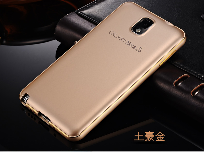 best sneakers 45b63 b0ee5 US $3.99 |2016 New Case For Samsung Galaxy Note 3 Aluminum Metal Frame +  Slim Original Style Plastic Back Cover Set Note3 N9000 on Aliexpress.com |  ...