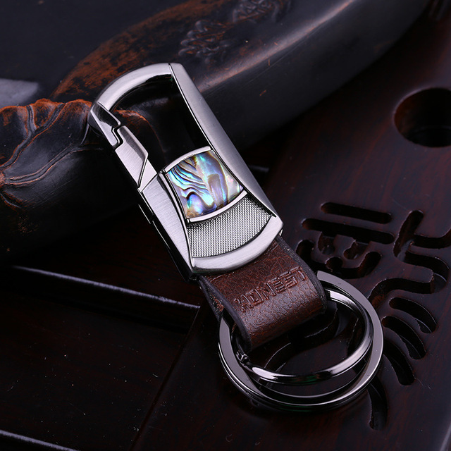 Fashion Shell Design Brand Luxury Leather Keychain For Women Man Car Key Chain Key Ring Birthday Gifts Key Holder