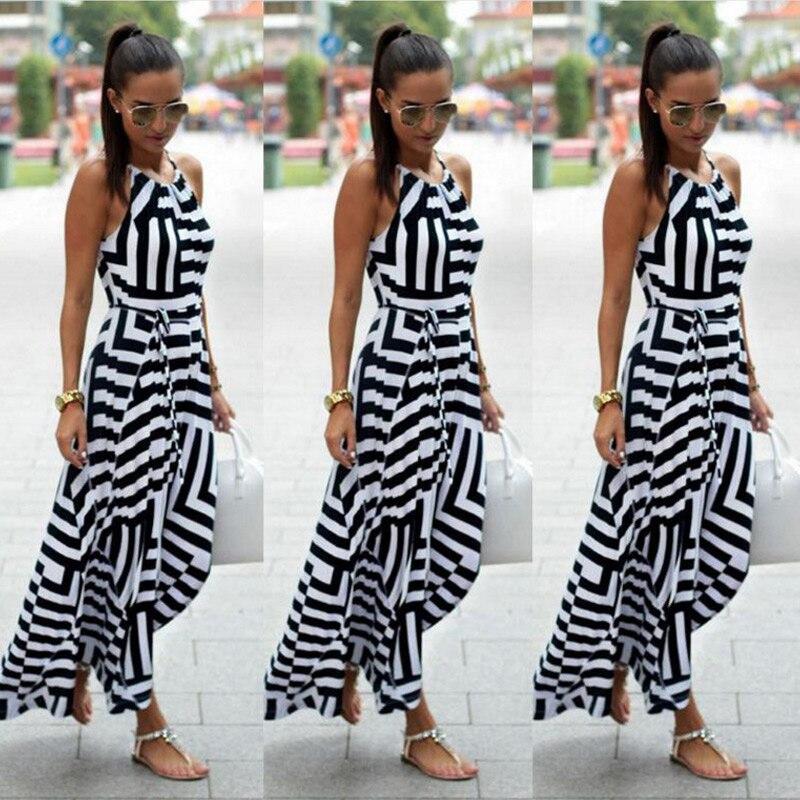 Women Sexy Summer Dress Boho Maxi Long Evening Party Dress Beach Dress Sundress New