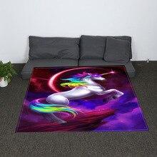 Digital Print Unicorn Horse Throw Blanket Mandala Design Sherpa Fleece Super Soft Cozy