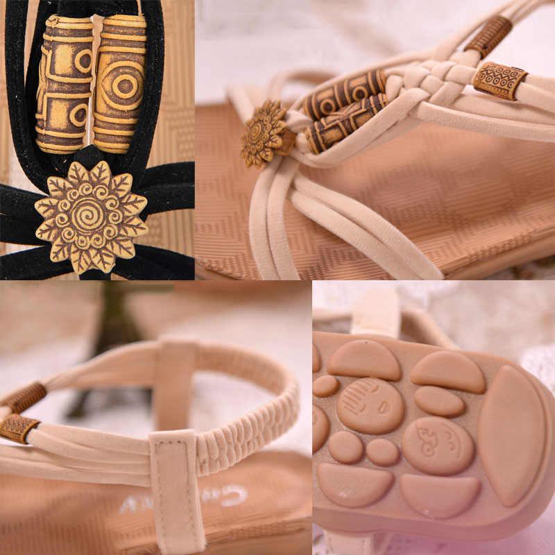 KUIDFAR Wanita Sandal Fashion Musim Panas Wanita Gladiator Sandal Musim Panas Pantai Sepatu Wanita Wanita Sandal Zapatos Mujer Hitam
