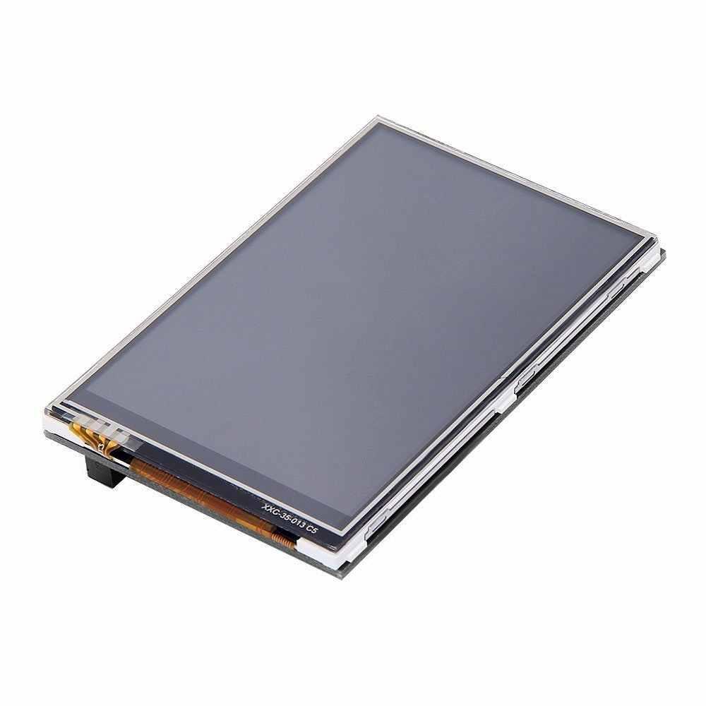 """Najlepsza cena oryginalny 3.5 """"ekran dotykowy LCD TFT dla Raspberry Pi 2/Raspberry Pi 3 Model B deska + akrylowa skrzynka + rysik"""