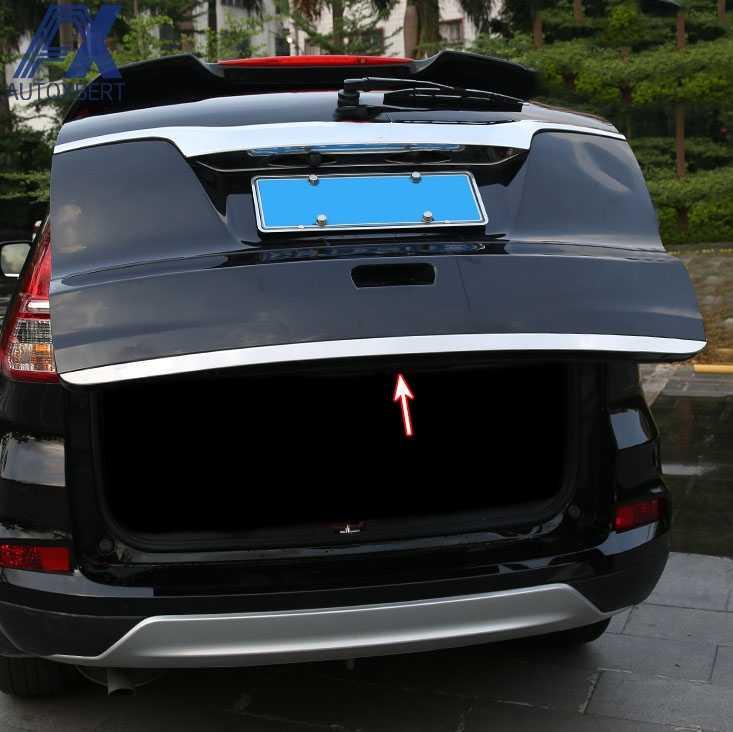 Fit For 2012-2016 Honda CR-V Chrome Rear Trunk Tail Gate Door Cover Trim Molding