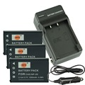 DSTE 3pcs NP20 NP-20 CNP20 Camera Battery + Travel and Car Charger For Casio Exilim EX-M1 M2 EM20 M20U S100 S100WE