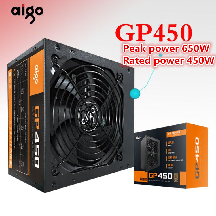 Aigo GP450 Active Power 80PLUS BRONZE Desktop Power Supply E sports Rated power 450W Maximum 600W