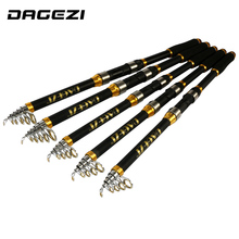 DAGEZI  EVA Handle Telescopic Fishing Rod  Fishing Tackle  Carbon Portable Super hard  Sea Rod 2.1M/2.4M/2.7M/3.0M/3.6M