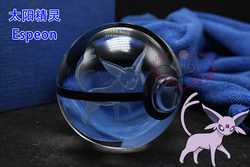 Wonderful 3D Clear Crystal Espeon pokeball Children Birthday Unique Gifts